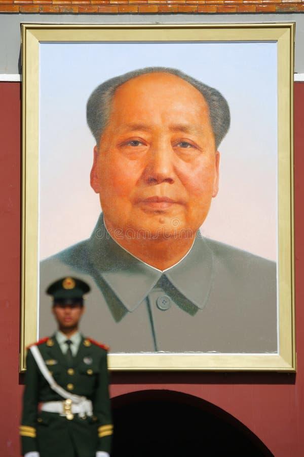 Mao dans le grand dos de Tianenmen photo libre de droits