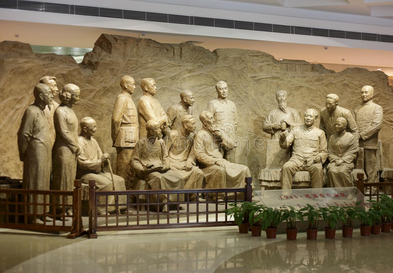 Mao and democratic parties leaders royalty free stock images