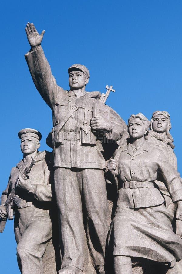 Mao Tse-Tung för Kina PekingTiananmen fyrkant mausoleum royaltyfri bild