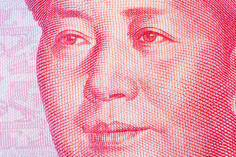 Mao Tse Tung sur la note de RMB photos stock