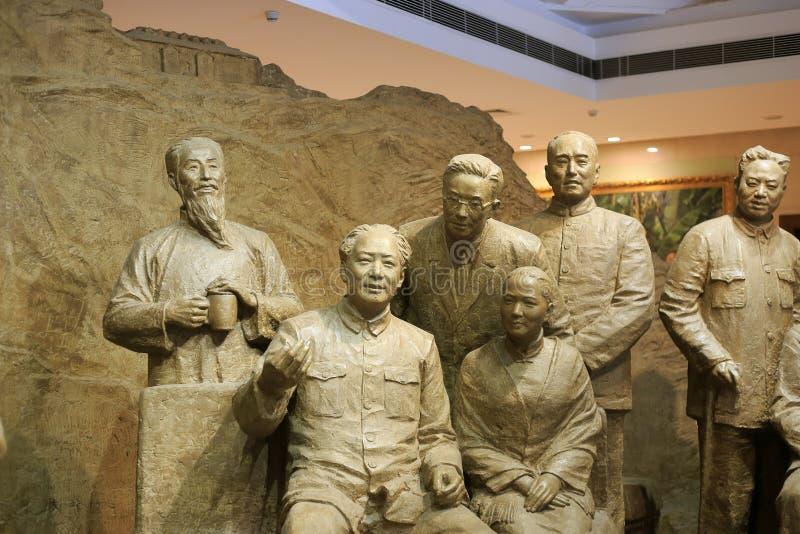 Mao y líderes de partidos democráticos foto de archivo libre de regalías