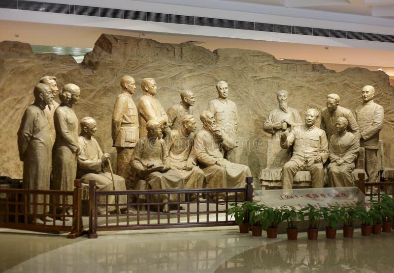 Mao y líderes de partidos democráticos imágenes de archivo libres de regalías