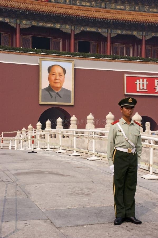 Mao Zedong, Plaza de Tiananmen, Pekín, China imagen de archivo