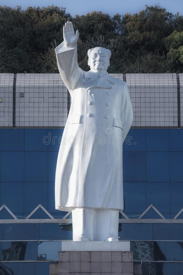 Mao Zedong Statue In Fuzhou, Chine images libres de droits