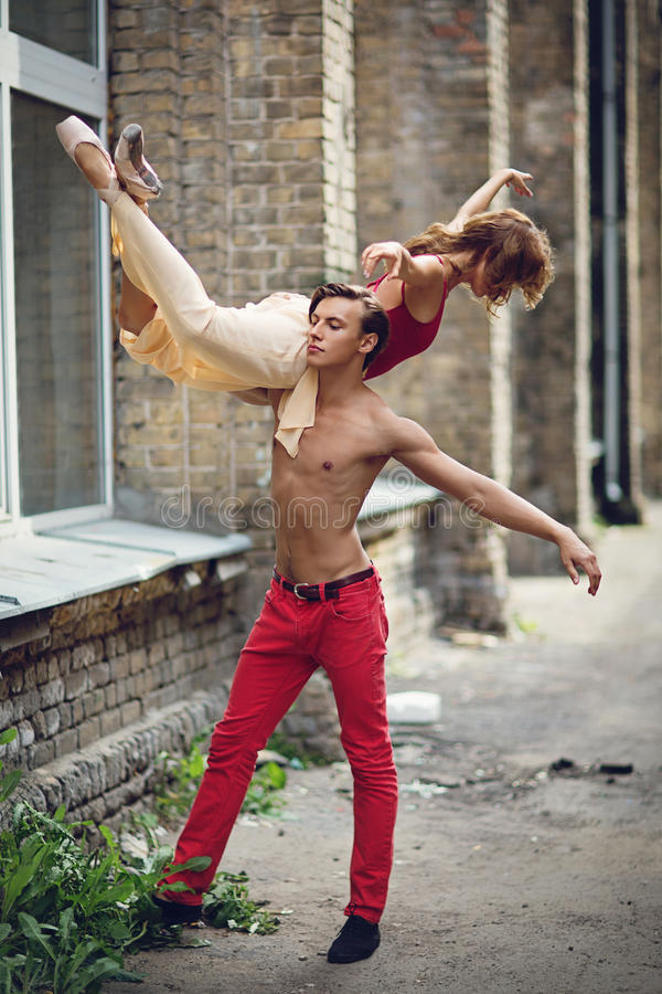 Maodern ballet couple royalty free stock images