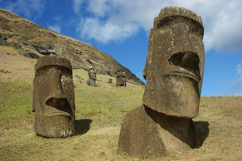 Maoi à l'île de Pâques photographie stock