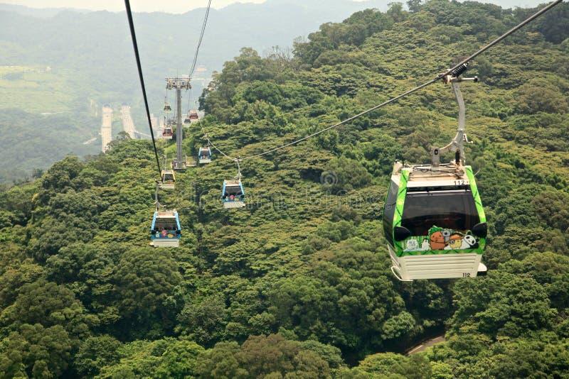 The Maokong Gondola in Taibei,Taiwan. stock photos