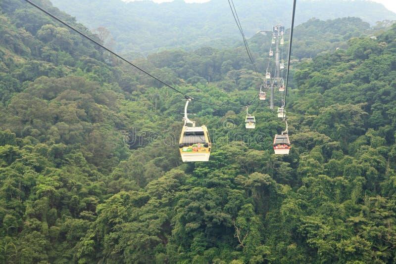 The Maokong Gondola in Taibei,Taiwan. royalty free stock photo