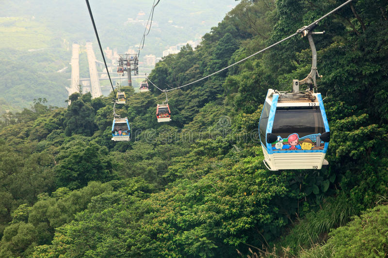 The Maokong Gondola in Taibei,Taiwan. stock images