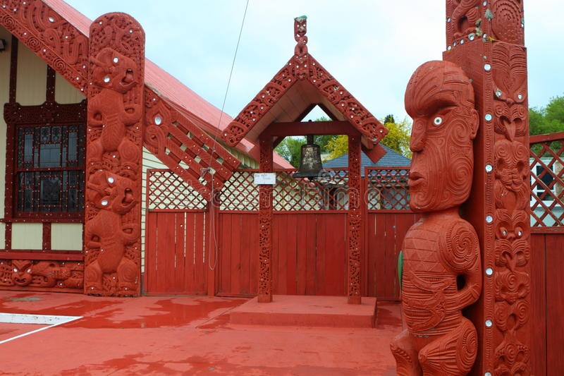 Maori σπίτι σε Rotorua στοκ εικόνες