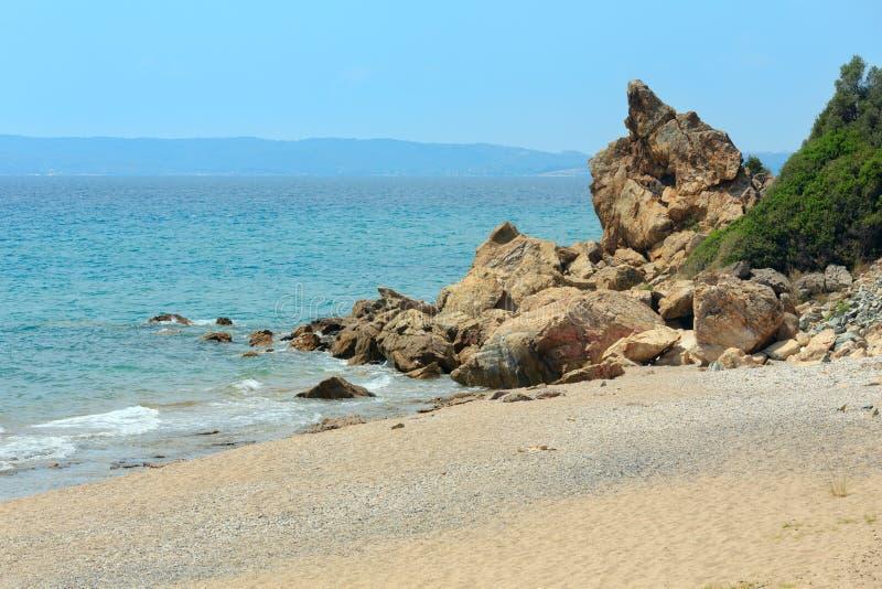 Maori Beach Bar Halkidiki, Grecia fotos de archivo