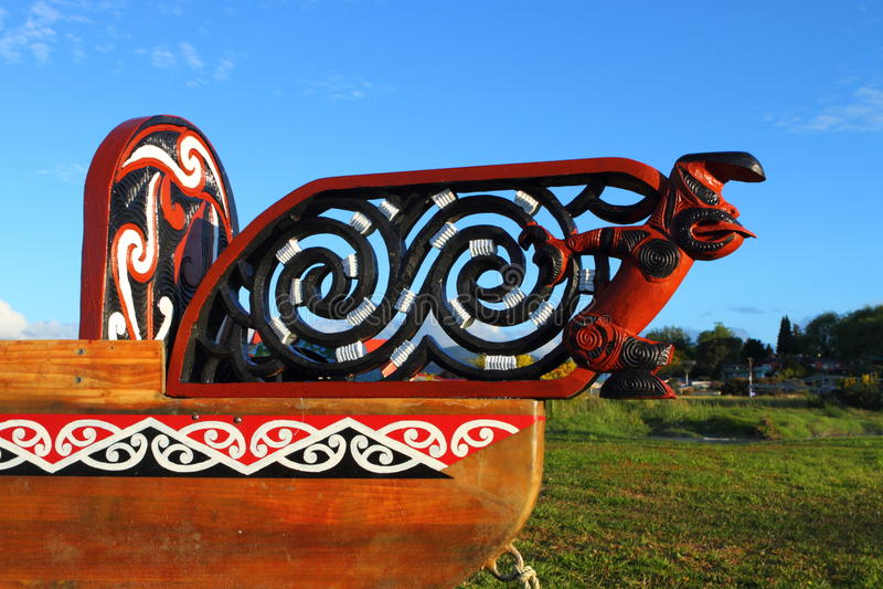 Maori Boat Fragment Stock Photos