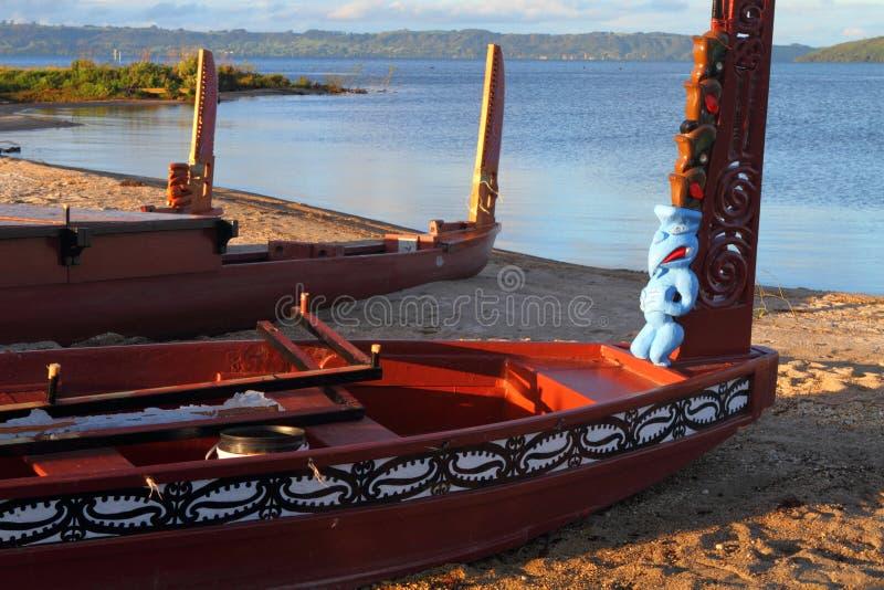 Maori boats stock photos