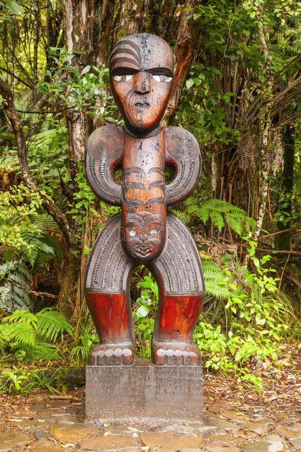 Maori Carved Figure photo libre de droits