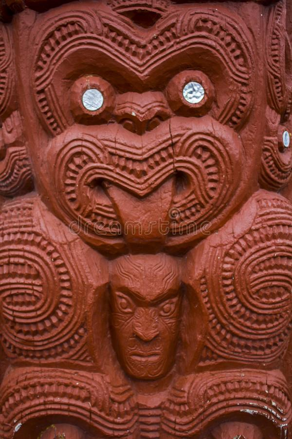 Maori Carving avec la langue  photo libre de droits