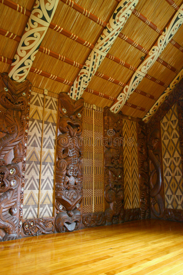 Maori Carvings stock image