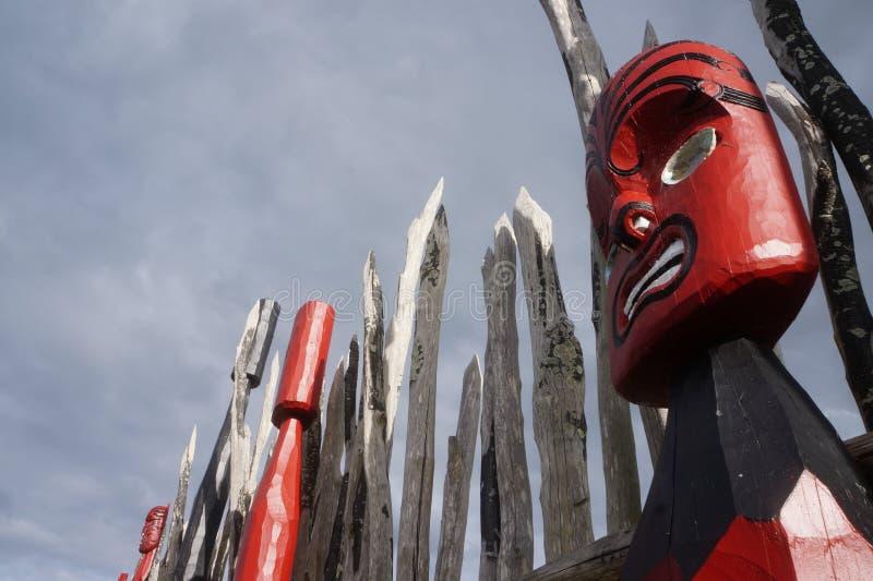 Maori- Carvings 6 Neuseelands lizenzfreies stockfoto