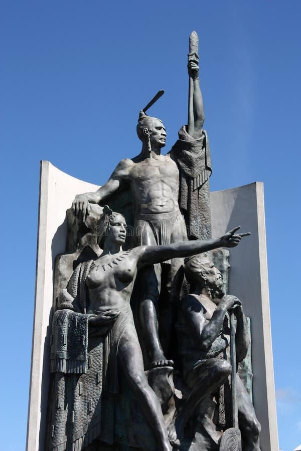 Maori gedenkteken royalty-vrije stock afbeeldingen