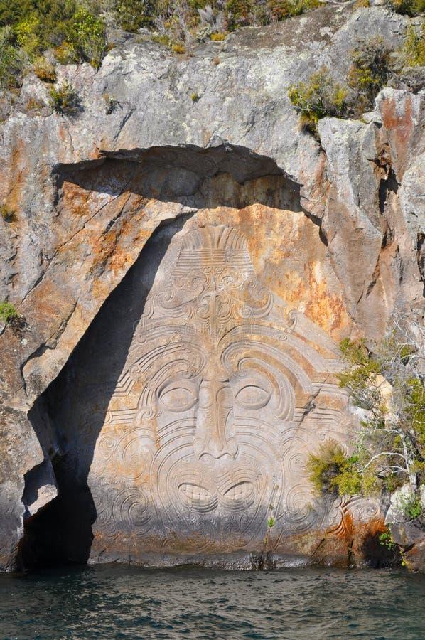 Maori hällristning royaltyfri fotografi