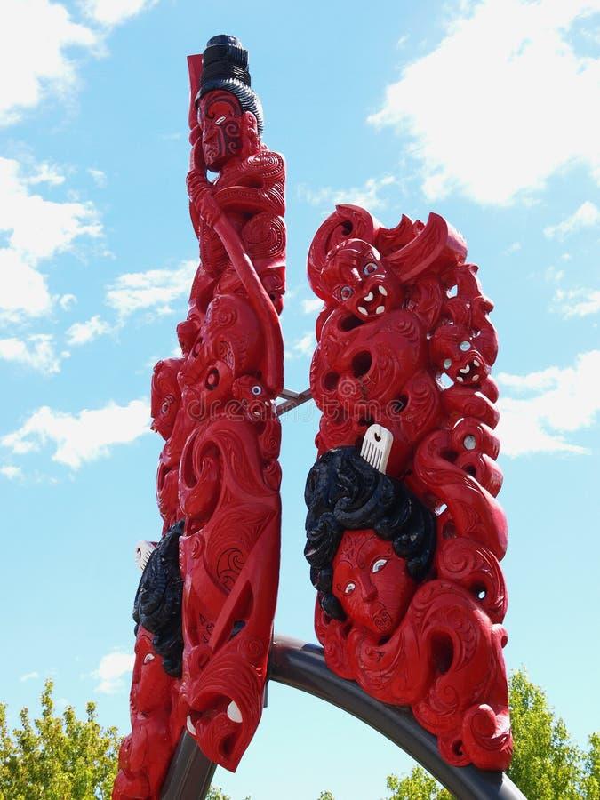 Maori- Kunst lizenzfreie stockfotos