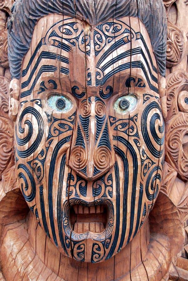 Maori Mask imagem de stock