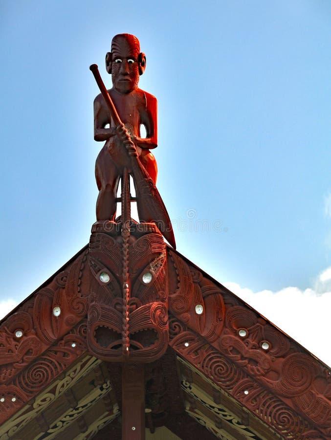 Maori meeting house at Waitangi royalty free stock image