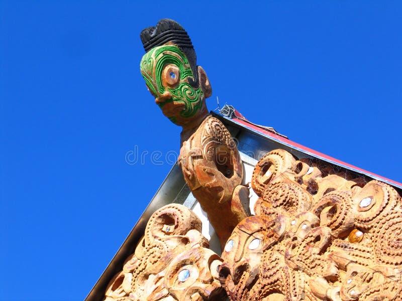Maori- Skulptur-Kunst stockbild
