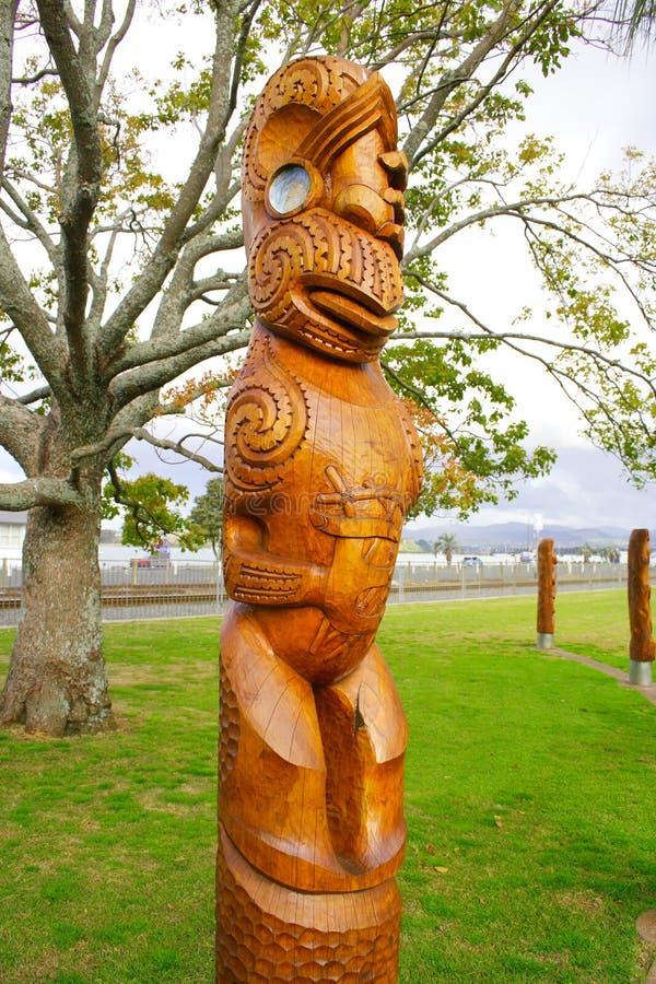 Maori- Skulptur-Kunst lizenzfreies stockbild