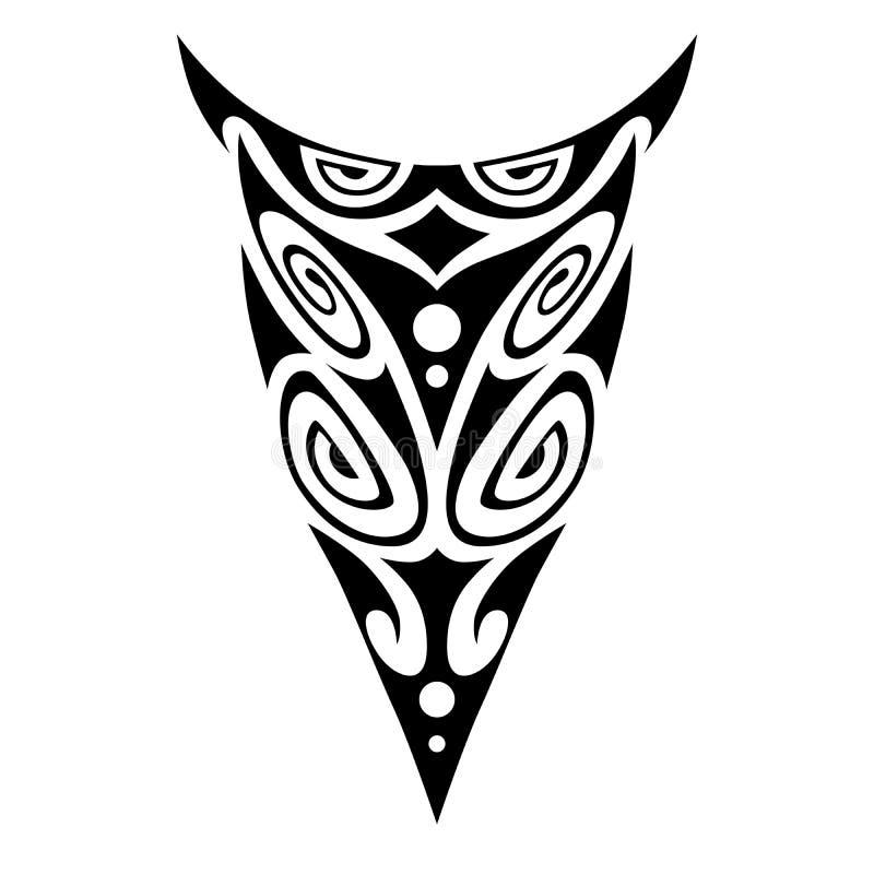 Maori stijl van het tatoegeringsornament voor been of wapen, hand, schouder Tatoegerings maori ontwerp Kunst stammentatoegering V stock illustratie