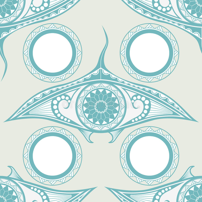Free Maori Style Tattoo Seamless Pattern For Decoration Stock Image - 75494691