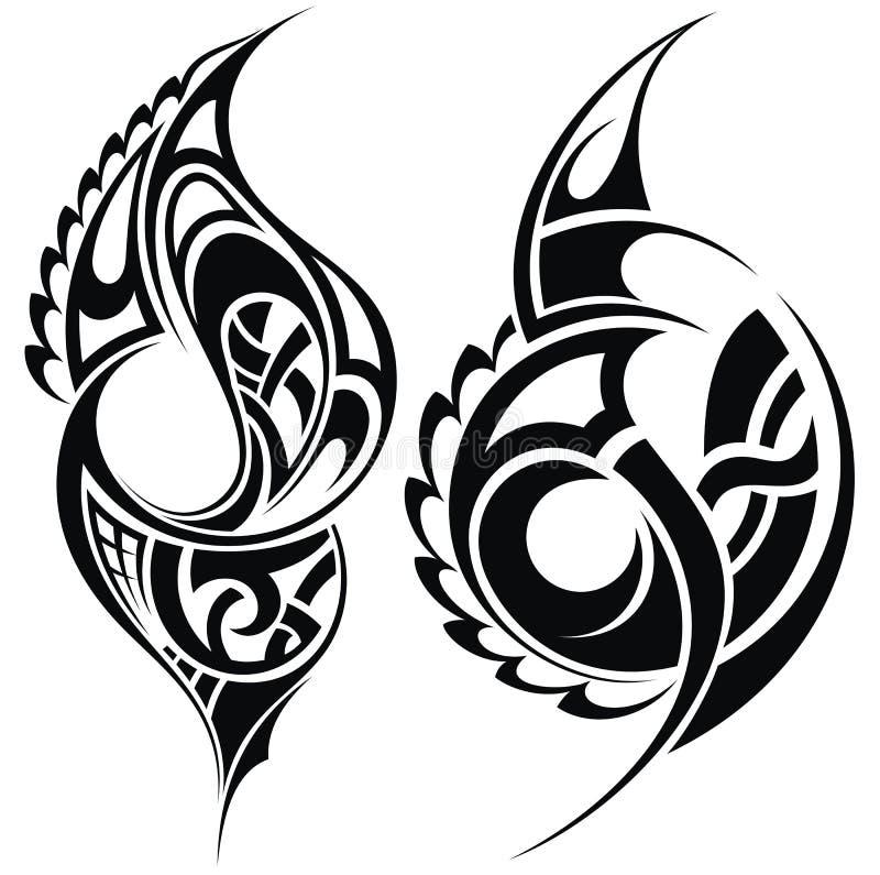 Maori Tattoo Design Stock Photos