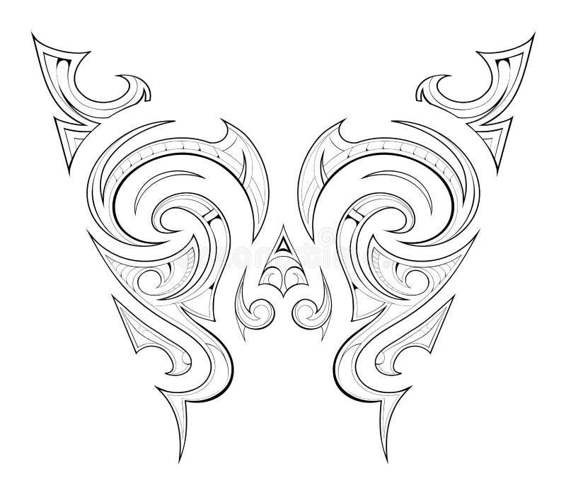 Maori Tattoo Design Stock Vector. Illustration Of