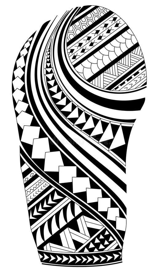 Maori tattoo stock vector illustration of black fish for Vector tattoo sleeve