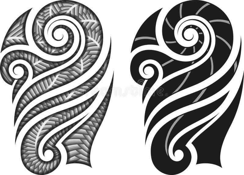 Maori Tattoo Pattern Stock Vector. Illustration Of Spiral