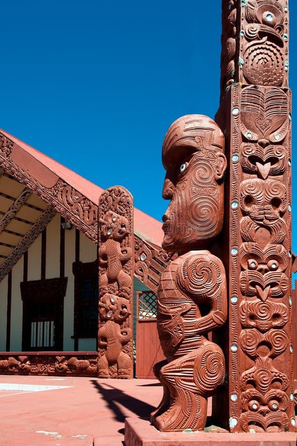 Maori- tekoteko, Ohinemutu, Rotorua stockfotos