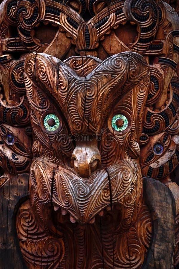 Maori Totem royalty-vrije stock foto