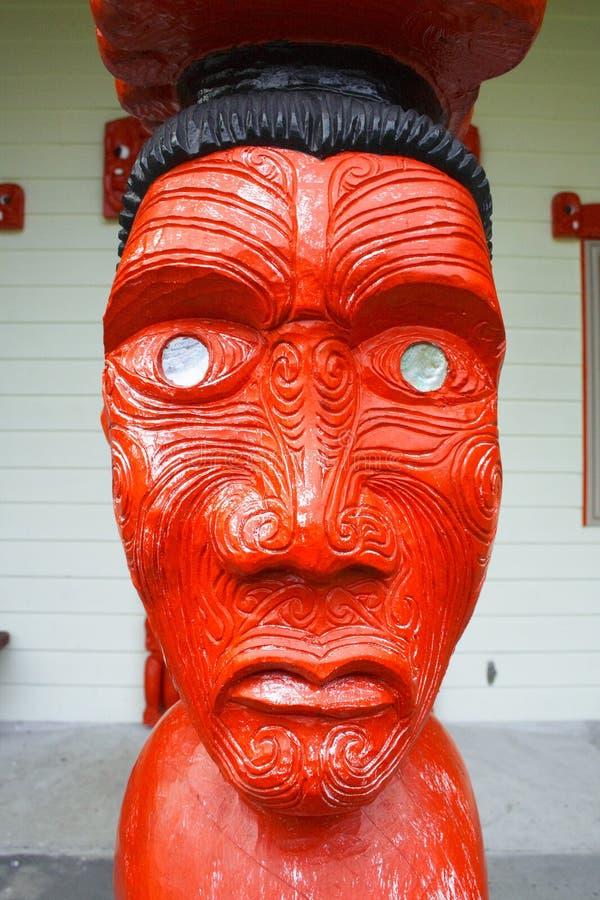 maoryjska rzeźba sztuki obraz royalty free