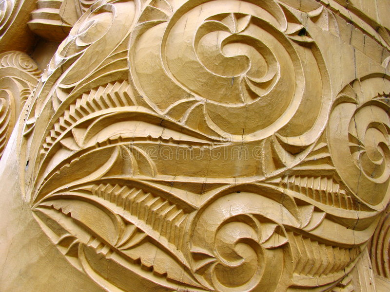 maoryjska rzeźba sztuki obrazy stock