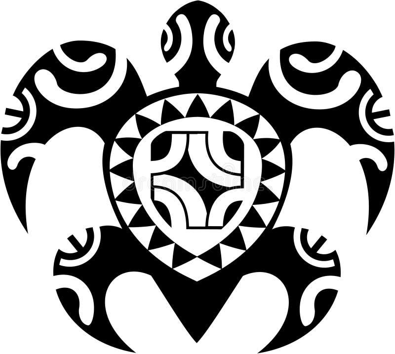 maoryjski żółw ilustracja wektor