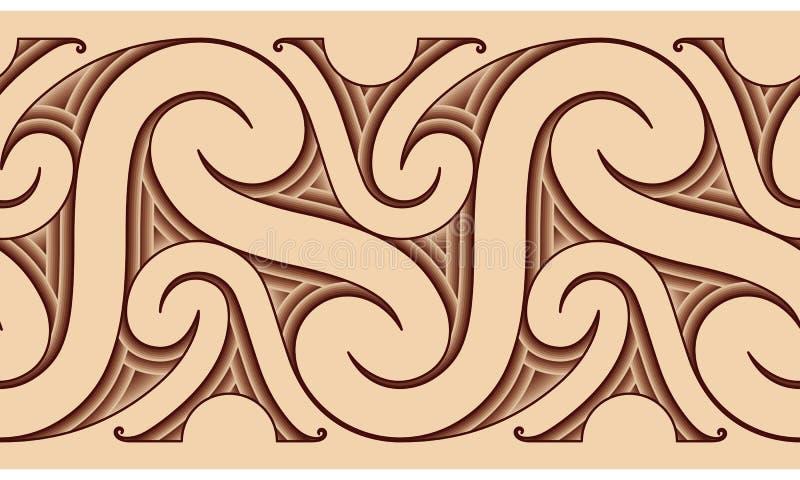 maoryjski deseniowy tatuaż ilustracja wektor
