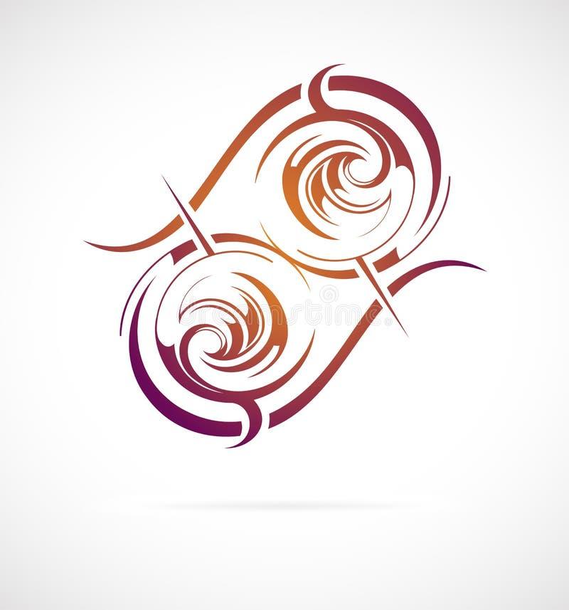 Maoryjski etniczny ornament ilustracji