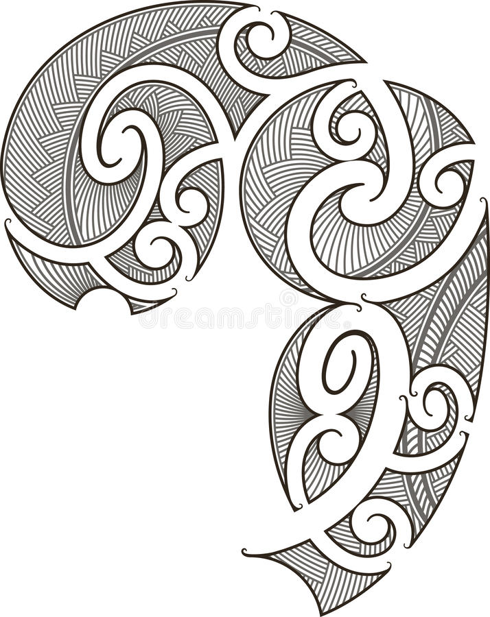 maoryjski projekta tatuaż royalty ilustracja