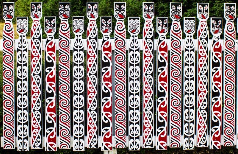 Maoryjski sztuki ogrodzenie obrazy stock