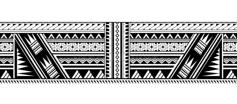 Maorysa rękawa stylowy tatuaż ilustracji