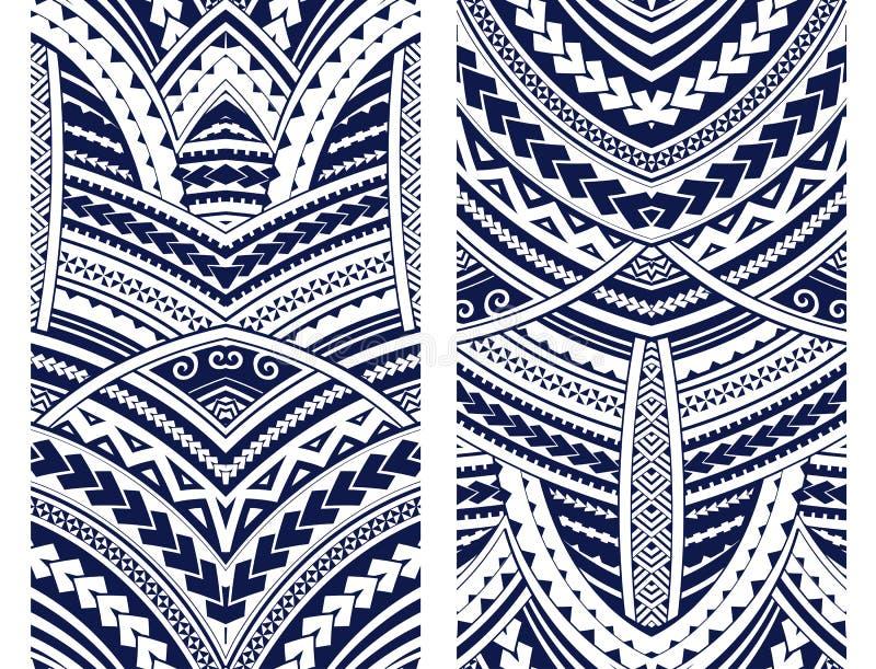 Maorysa stylu ornamentu set ilustracji