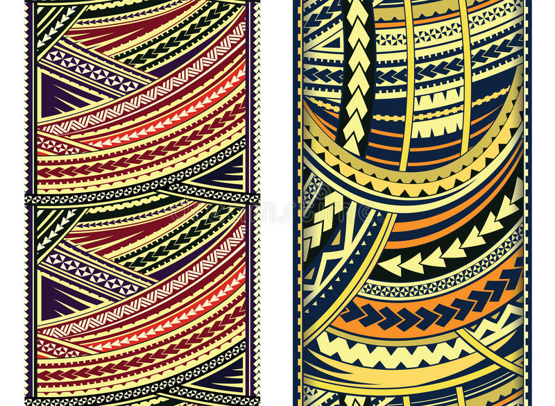 Maorysa stylu ornamentu set royalty ilustracja