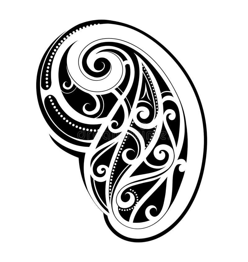 Maorysa stylu tatuaż ilustracja wektor