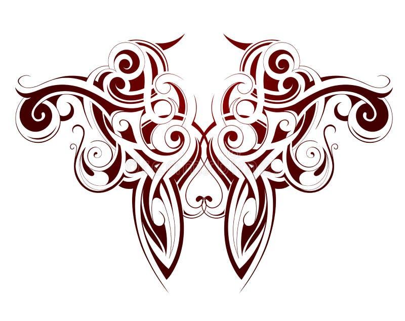 Maorysa stylu tatuaż ilustracji