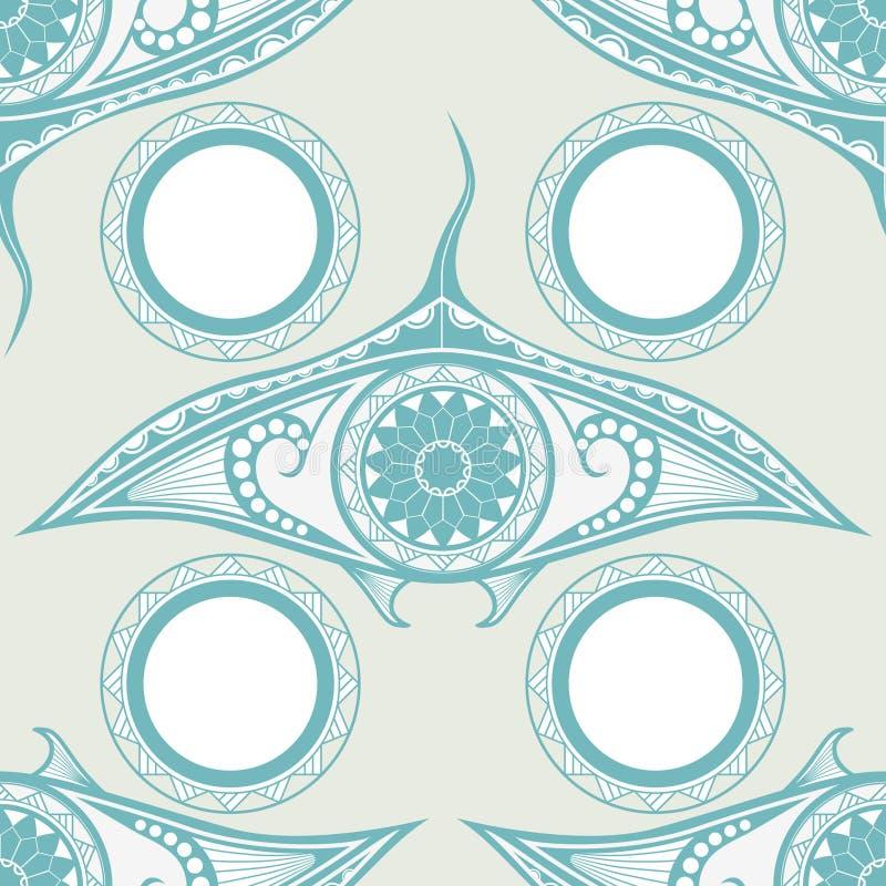 Maorysa stylu tatuażu bezszwowy wzór dla dekoraci royalty ilustracja