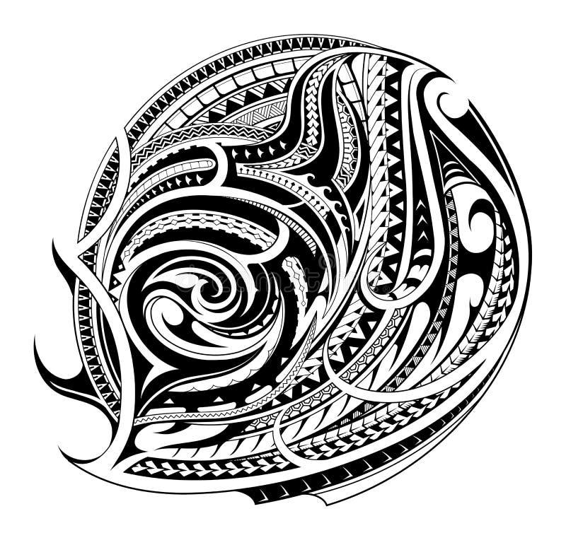 Maorysa stylu tatuażu kształt royalty ilustracja